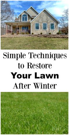 Does your lawn need some TLC after a long winter? Find out these easy tips to restore your lawn after winter! via @asrochester87