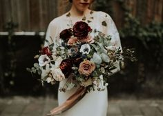 Image result for wedding bouquets burgundy and white