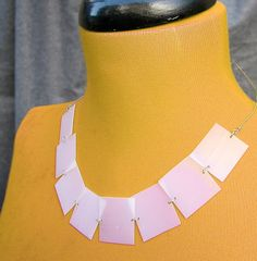 Recycled Necklace made with milk jugs