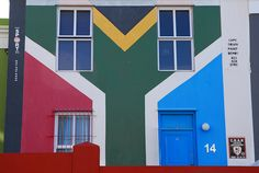 "a ""flag"" painted building in Cape Town. Travel Planner, Travel List, African Beauty, African Art, South African Flag, Colorful Houses, Cape Town South Africa, Beaches In The World, Most Beautiful Beaches"