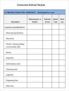 excel quotation template spreadsheets for small business contractor estimate templates free word excel pdf