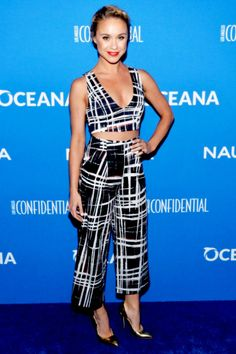 Becca Tobin arrives at the 3rd Annual Nautica Oceana Beach House Party at the Marion Davies Guest House on May 8, 2015 in Santa Monica, California.