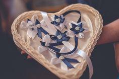 košík na svadobné pierka s vankúšikom