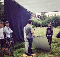 BTS snaps of Jamie Dornan from the British Vogue shoot - 2014 Glamour Uk, Fifty Shades Darker, 50 Shades, Vogue Uk, Irish Men, Christian Grey, Dakota Johnson, Jamie Dornan, Old Pictures