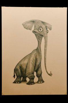 "Chris Ayers ""Elephant - Day 2338 - Putty Pachyderm"" http://chrisayers.blogspot.ru/"