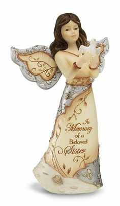Elements Beloved Sister Angel Figurine by Pavilion, 5-Inch, Holding Dove, Inscription in Memory of a Beloved Sister Elements,http://www.amazon.com/dp/B004S31J0A/ref=cm_sw_r_pi_dp_iDdAtb1S644RKFYP