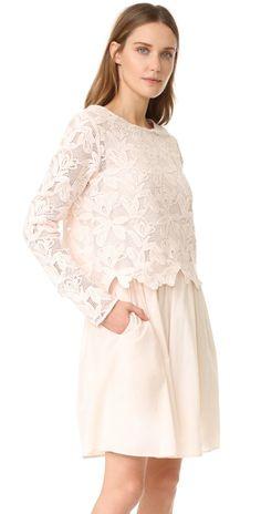 ff81c28d235478 Lace Long Sleeve Dress