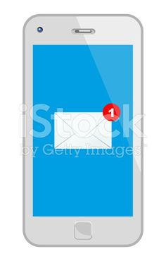 White Smart Phone With Mail royalty-free stock vector art
