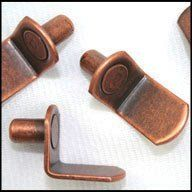 """WidgetCo 1/4"""" Antique Bronze """"L"""" Shelf Pins (1 EACH) by WidgetCo. $0.28. 1/4 inch Antique Bronze """"L"""" Shelf Pins are """"L"""" shaped and fit your drilled 1/4"""" holes common on shelving, bookcases and cabinets. Antique Bronze finish. Suitable for wood, metal and composite shelves."""