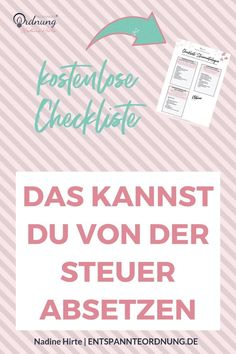 You can deduct that from the tax. The free checklist helps me to collect the tax documents over the year. Tax return tips included. So that the tax is fun. Pelo Cafe, Make Money Online, How To Make Money, Budget Planer, Control, Money Management, Earn Money, Good To Know, Romantic Dates