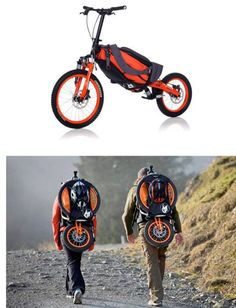 """Fold, Collapse & Pack Away Bike"", from FOLDBIKE, Laguna Beach, CA, 949-715-2345, post by dumpaday."