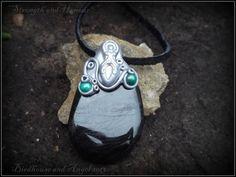 Hypersthene and Malachite Crystal Goddess Pendant £24.00
