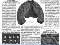 La Mode 1864  knitted jacket. instruction in French.... good luck.
