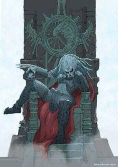 Depredador sentado en su trono