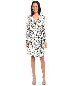 Christin Michaels Emily Wrap Dress Ivory/Black - Zappos.com Free Shipping BOTH Ways