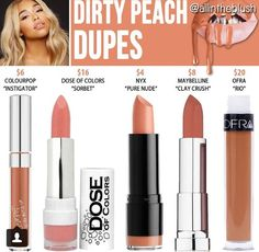 Kylie cosmetics dirty peach dupes // @kathrynglee123