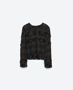 Image 8 of FRAYED TWEED TOP from Zara