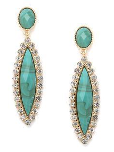 turquoise glitter drops