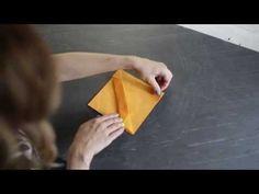 Szalvéta hajtogatás 1 perc alatt- INSPIRACIOK.HU - YouTube