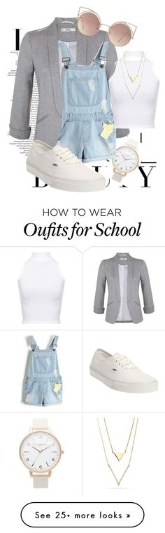 """""""Back To School ♕2"""" by kalanilee5 on Polyvore featuring Topshop, Miss Selfridge, WearAll, Vans and MANGO"""