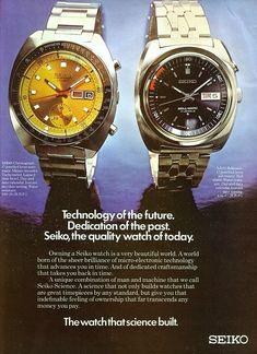 Seiko 4006 ad1 Timex Watches, Seiko Watches, High End Watches, Cool Watches, Seiko Automatic, Watch Ad, Watch Photo, Luxury Watches For Men, Vintage Watches