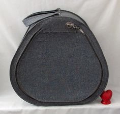 Desperately Seeking this Suitcase  Vintage Vinyl Pear by YourHeart, $50.00