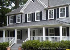 What is your favorite home and porch color? Found on Front-Porch-Ideas-and-More.com