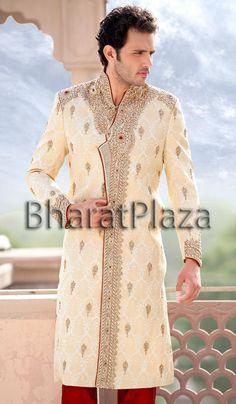 Modish Look Groom Sherwani  Item code : SSJ8124