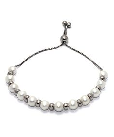 Look what I found on #zulily! Pearl & Sterling Silver Beaded Adjustable…