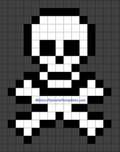 MINECRAFT PIXEL ART – One of the most convenient methods to obtain your imaginative juices flowing in Minecraft is pixel art. Pixel art makes use of various blocks in Minecraft to develop pic… Bead Loom Patterns, Perler Patterns, Beading Patterns, Hama Beads, Perler Bead Art, Pixel Pattern, Pattern Art, Pixel Art Minecraft, Minecraft Skull