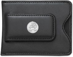 """Cleveland Browns 5/8"""" Sterling Silver Round Brownie Logo on Black Leather Money Clip / Credit Card Holder by Logo Art. $59.95. Enjoy this official NFL licensed Cleveland Browns money clip. A great gift for any Cleveland Browns fan!Express your team pride with men's football accessories from LogoArt®.The sterling silver Cleveland Browns logo is:Custom-made and captured in expensive metal molds for optimum detailRhodium plated to provide a beautiful lasting finishHand polished to ..."""