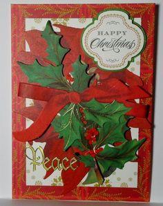 Happy Christmas Peace Greeting Card Handmade Anna Griffin Style #Handmade #Christmas