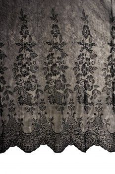 #Lace #Shower #Curtain Victorian Floral Black Poly 72 X 72 # 14187 Shop