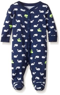 Carters Baby Boys Print Footie (3 Months, Unisex Yellow)