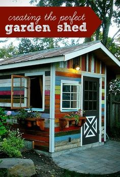 Creating a perfect garden shed #playhousebuildingplans