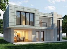 Modern House Design did you know that this small modern house design has 4 bedrooms