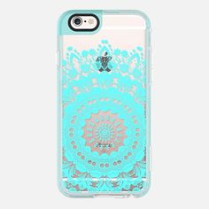 Bloom Pearl Teal Transparent iPhone - #Transparent iPhone - #New #standard #Case #casetify #heaven7 #iphone6 #iphone6s #spring #florals #cute #romantic #girly #elegant  #pretty #boho