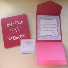 Participaciones caladas para los 15 años de Paula // Laser cut card