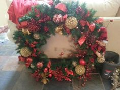 "Red god 36 ""wreath"