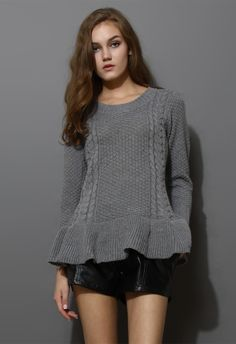 knitted peplum. chicwish.com