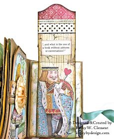 Stamperia Alice ATC Tea Box Mini Album Tutorial - Kathy by Design Mini Scrapbook Albums, Mini Albums, Envelope Book, Alice Book, Chicken Scratch Embroidery, Atc Cards, Craft Cards, Girl Scout Crafts, Alice In Wonderland Tea Party