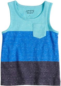 Keep him cool with style in this boys' Jumping Beans tank top. Girl Top Dress, Kids Clothes Boys, Girl Bottoms, Jumping Beans, Toddler Boys, Fabric Design, Color Blocking, Tank Man, Kids Outfits