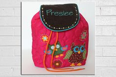 Owl Backpack for Preschool or Kindergarten - Personalized with name - Stephen Joseph. $31.99, via Etsy.