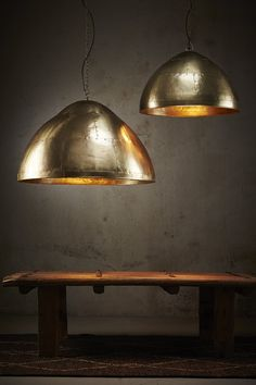 P51 Brass Riveted Pendant Light
