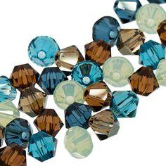 5328 4mm Swarovski Elements Crystal Mix - Driftwood | Fusion Beads