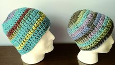 Crochet Beanie Turquoise and various other colors adult