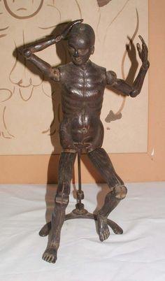 Antique Carved Wooden Artist Mannequin