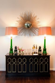 painting furniture inspiration: black with gold