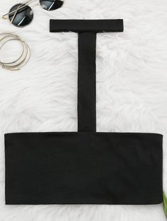 SHARE & Get it FREE | Spaghetti Straps Choker Tube Top - Black SFor Fashion Lovers only:80,000+ Items • New Arrivals Daily Join Zaful: Get YOUR $50 NOW!