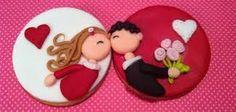 Resultado de imagen para galletas enamorados